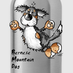 Funny Jumping Bernese Mountain Dog Shirts - Water Bottle