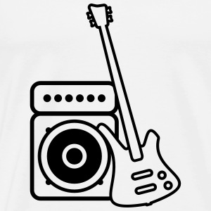 Bass guitar with amp Sweaters - Mannen Premium T-shirt