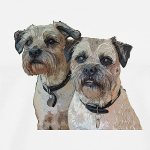 Border Terrier Mug - Men's Premium T-Shirt