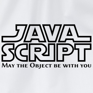 JavaScript - May the Objet be with you (white) - Turnbeutel