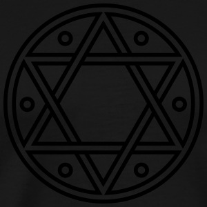 ✡ Hexagram, Magic, Merkaba, David Star, Solomon Langærmede t-shirts - Herre premium T-shirt