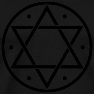 Hexagram, Magic, Merkaba, David Star, Yin Yang Gensere - Premium T-skjorte for menn