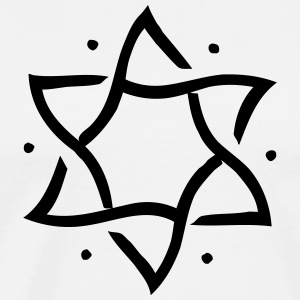 Star of David, hexagram, ✡ Israel, Judaism, Symbol Långärmade T-shirts - Premium-T-shirt herr