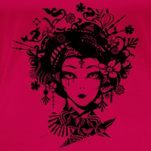 Geisha with extravagant hair accessories  Tops - Women's Premium T-Shirt