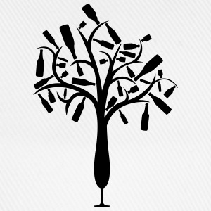 Bottle tree from champagne glass T-Shirts - Baseball Cap