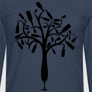 Bottle tree from champagne glass T-Shirts - Men's Premium Longsleeve Shirt