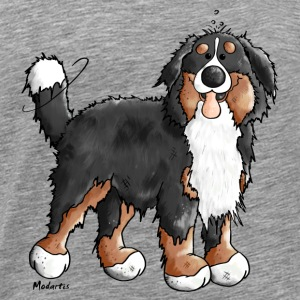 Happy Bernese Mountain Dog Long sleeve shirts - Men's Premium T-Shirt