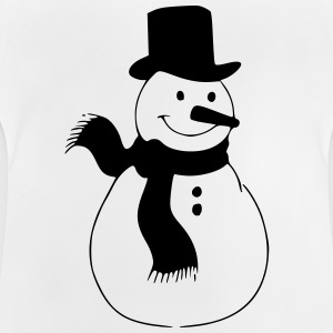Snowman, winter, Christmas, cold, slide Shirts - Baby T-shirt