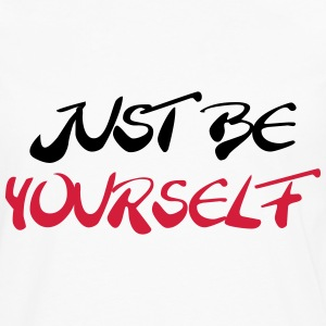 Just be yourself T-shirts - Långärmad premium-T-shirt herr
