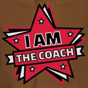 I AM THE COACH Tee shirts - Sweat-shirt à capuche Premium pour femmes