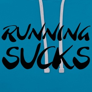 Running sucks T-shirts - Kontrastluvtröja