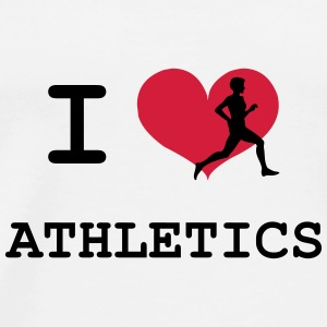 I Love Athletics  Flessen & bekers - Mannen Premium T-shirt