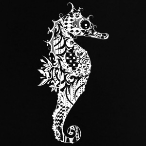 A fancy Seahorse (white contours) Bags & Backpacks - Baby T-Shirt