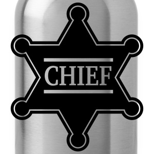 Chief Sheriff Star, Wild West America, Chef, Boss Camisetas - Cantimplora