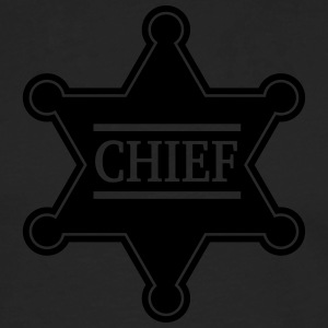 Chief Sheriff Star, Wild West America, Chef, Boss T-skjorter - Premium langermet T-skjorte for menn