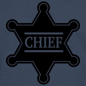 Chief Sheriff Star, Wild West America, Chef, Boss Sweaters - Mannen Premium shirt met lange mouwen