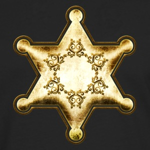 Gold Sheriff Star, Wild West America, Chief, Boss T-shirts - Mannen Premium shirt met lange mouwen