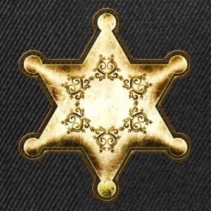 Gold Sheriff Star, Wild West America, Chief, Boss T-shirts - Snapbackkeps