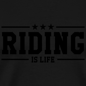 Riding is life Kopper & flasker - Premium T-skjorte for menn