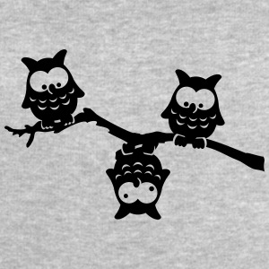 Owls funny branch upside down crazy eagle-owl T-Shirts - Men's Sweatshirt by Stanley & Stella