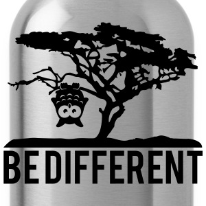 OWL upside down tree hanging be different T-Shirts - Water Bottle