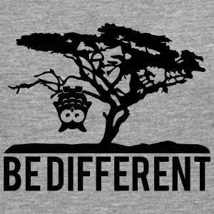 OWL upside down tree hanging be different T-Shirts - Men's Premium Longsleeve Shirt