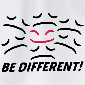 Be Different Happy Sad face different T-Shirts - Drawstring Bag