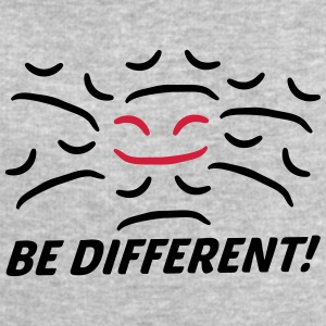 Be Different Happy Sad face different T-Shirts - Men's Sweatshirt by Stanley & Stella