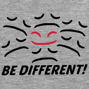 Be Different Glad trist ansigt anderledes T-shirts - Herre premium T-shirt med lange ærmer