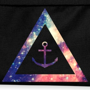 Galaxy / universe / hipster triangle with anchor Hoodies & Sweatshirts - Kids' Backpack