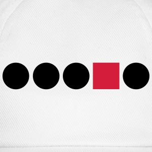 Circle Square Rectangle shape Anders edges Differe T-Shirts - Baseball Cap