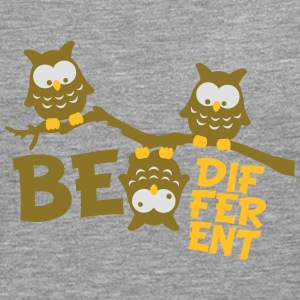 Ugle Funny Owl Branch skøre Be Different T-shirts - Herre premium T-shirt med lange ærmer