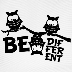 Ugle Funny Owl Branch skøre Be Different T-shirts - Baseballkasket
