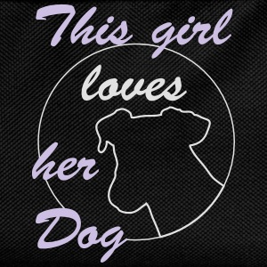 Girl Loves Dog T-Shirts - Kinder Rucksack