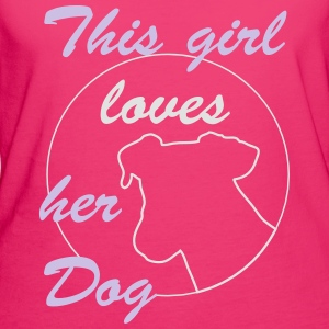 Girl Loves Dog Bags & Backpacks - Women's Organic T-shirt