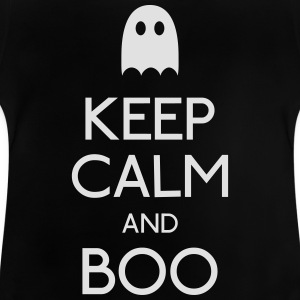 keep calm and boo mantenga la calma y boo Camisetas - Camiseta bebé