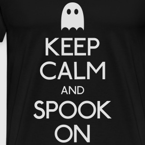 keep calm spook holde ro spook Gensere - Premium T-skjorte for menn