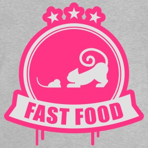 Fast food, cat with mouse premium Shirts - Baby T-Shirt