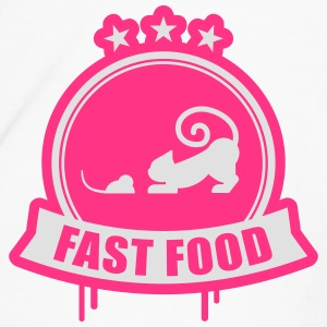 Fast food, cat with mouse premium Bottles & Mugs - Men's Premium T-Shirt