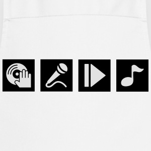 DJ, sing, play, music Shirts - Cooking Apron