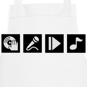 DJ, sing, play, music T-Shirts - Cooking Apron
