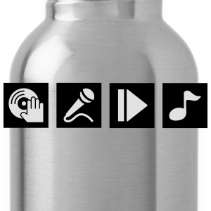 DJ, sing, play, music Shirts - Water Bottle
