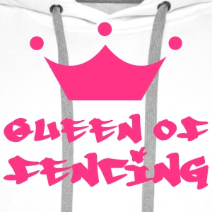 Queen of fencing Tee shirts - Sweat-shirt à capuche Premium pour hommes