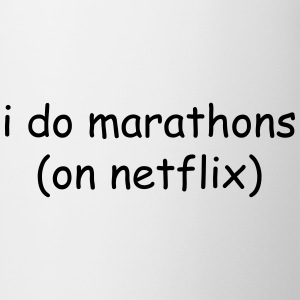I do marathons (on Netflix) T-shirts - Mok