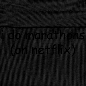I do marathons (on Netflix) T-skjorter - Ryggsekk for barn