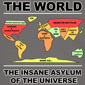 THE WORLD -INSANE ASYLUM - Männer Kontrast-T-Shirt