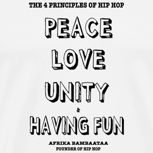 4 principles of Hip Hop Buttons - Men's Premium T-Shirt
