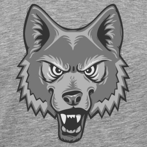 Wolf Emblem Long Sleeve Shirts - Men's Premium T-Shirt