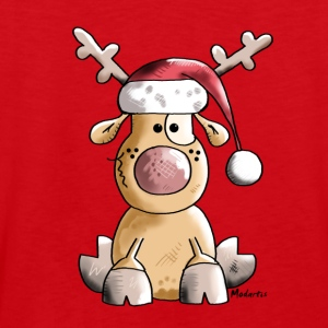 Funny Christmas Reindeer Cartoon Long Sleeve Shirts - Men's Premium Tank Top