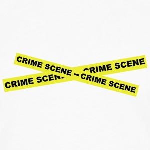 Crime Scene Tape Bottles & Mugs - Men's Premium Longsleeve Shirt